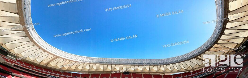 Stock Photo: Wanda Metropolitano stadium, panoramic view. Madrid, Spain.