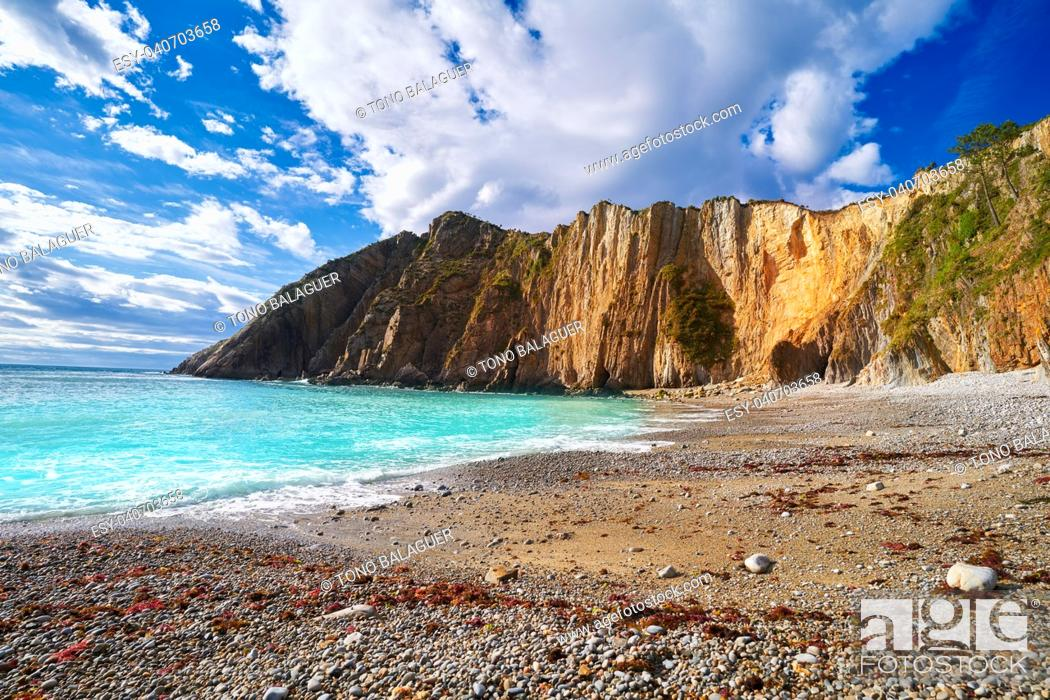 Stock Photo: Playa del Silencio in Cudillero Asturias from Spain.