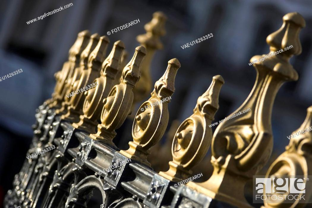 Stock Photo: Close-Up, Day, Design, Gate, Gilded.