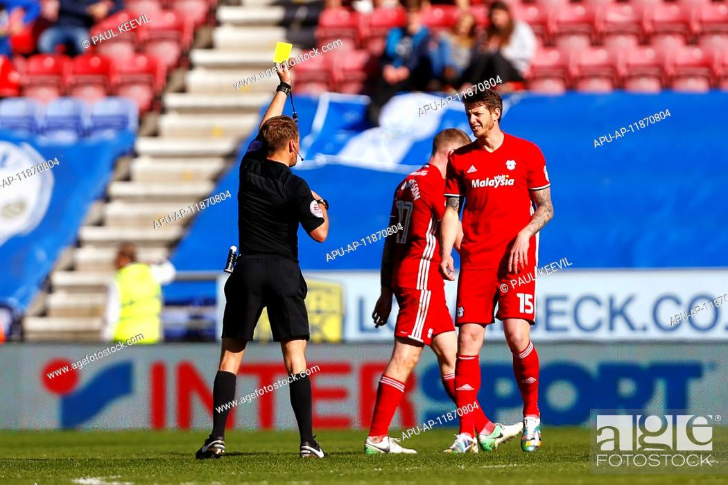 Stock Photo: 2017 Skybet Championship football Wigan v Cardiff Apr 22nd. April 22nd 2017, Wigan, Lancashire, England; Skybet Championship football Wigan versus Cardiff; Greg.
