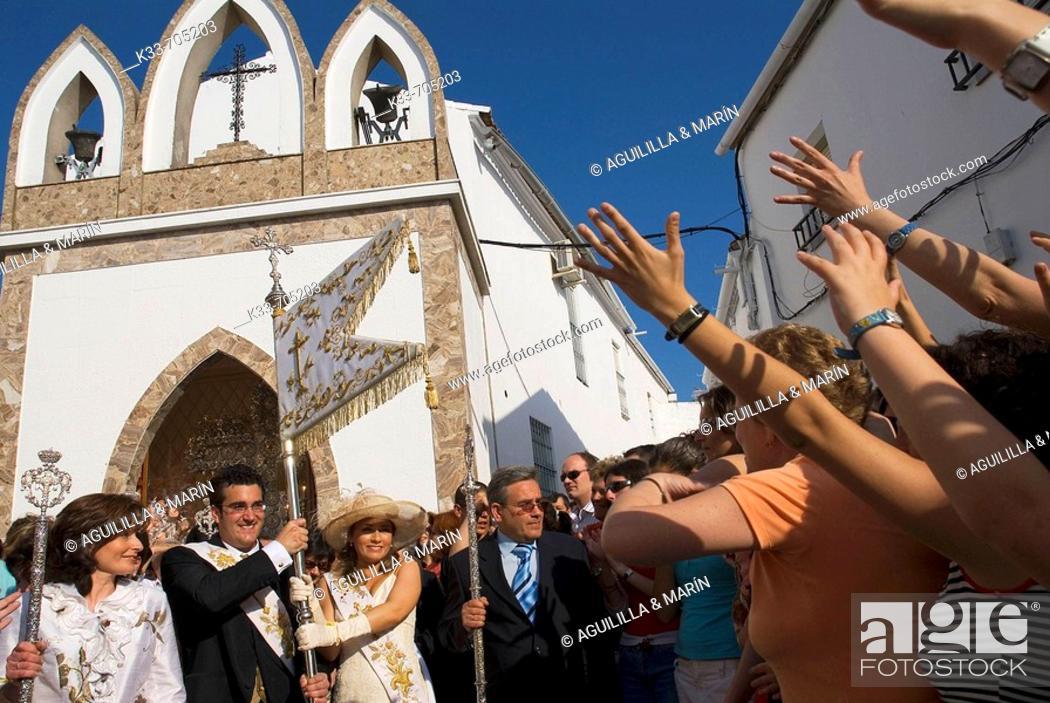 Stock Photo: Cruces de Mayo. Berrocal, Huelva, Andalusie, Spain.