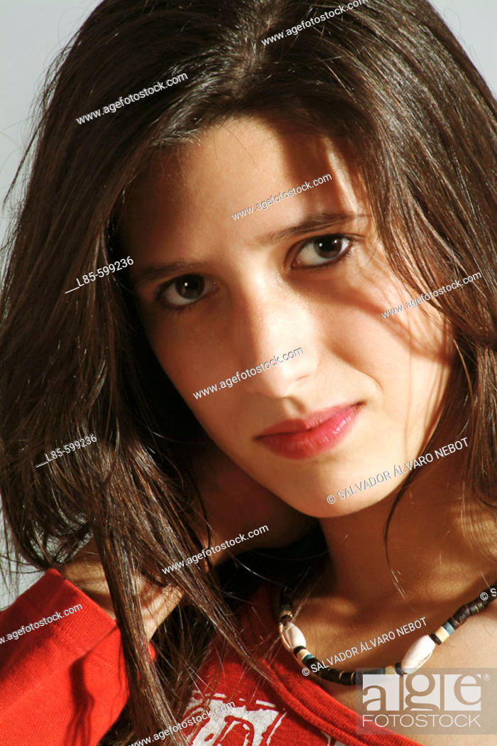 Stock Photo: Portrait of teenage.