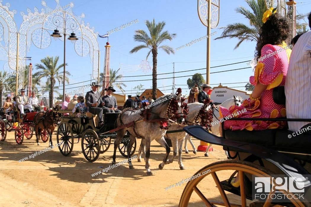 Stock Photo: Feria del caballo in Jerez, Spain, Andalusia.