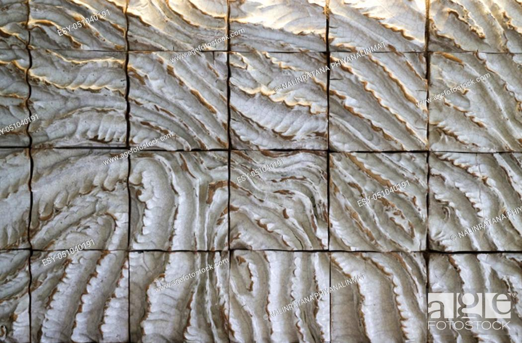 Stock Photo: Vintage tile pattern texture background and wallpaper, stock photo.