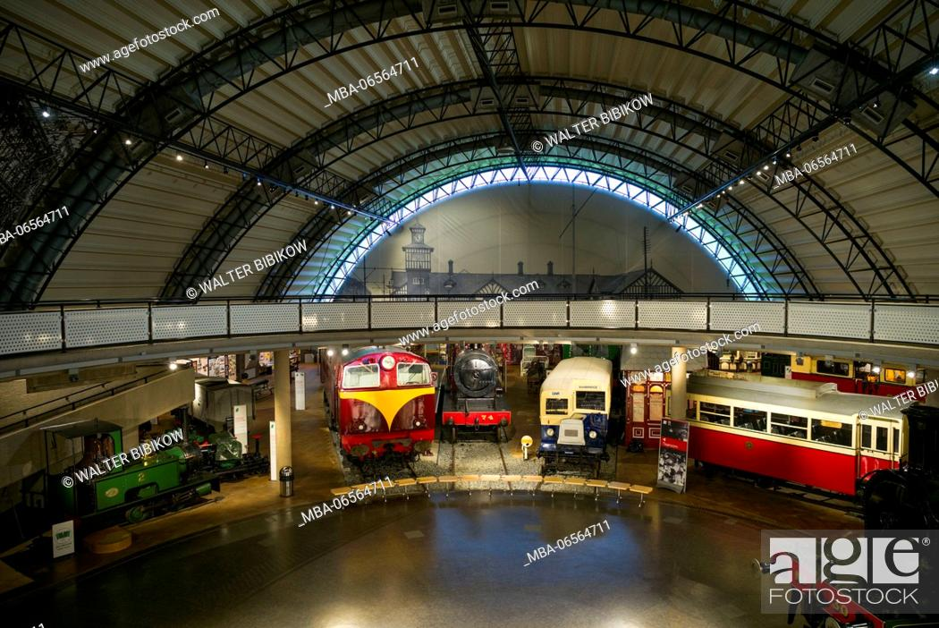 Stock Photo: UK, Northern Ireland, County Down, Holywood, Ulster Transport Museum, interior.