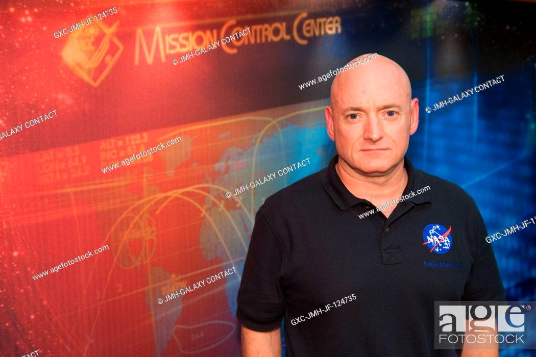 Stock Photo: NASA astronaut Scott Kelly, Expedition 25 flight engineer and Expedition 26 commander, poses for a portrait following an Expedition 2526 preflight press.