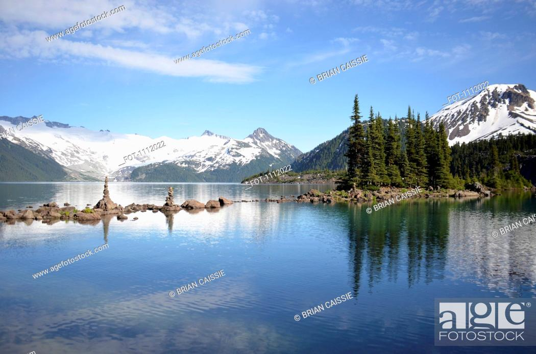 Stock Photo: Garibaldi Lake, British Columbia, Canada.