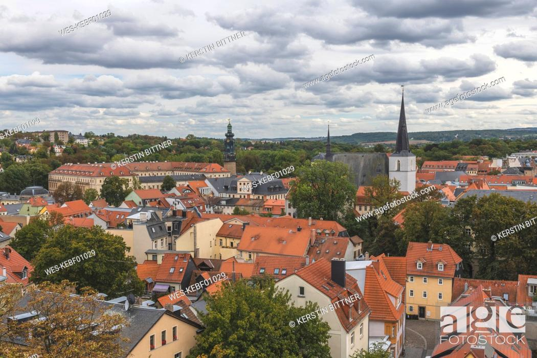 Stock Photo: Germany, Weimar, view from St. James Church to cityscape.