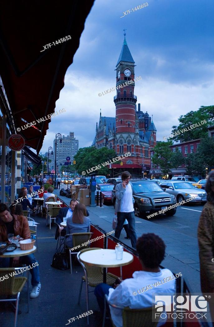Stock Photo: Jefferson Market Library  425 sixth Av,New York City, USA.