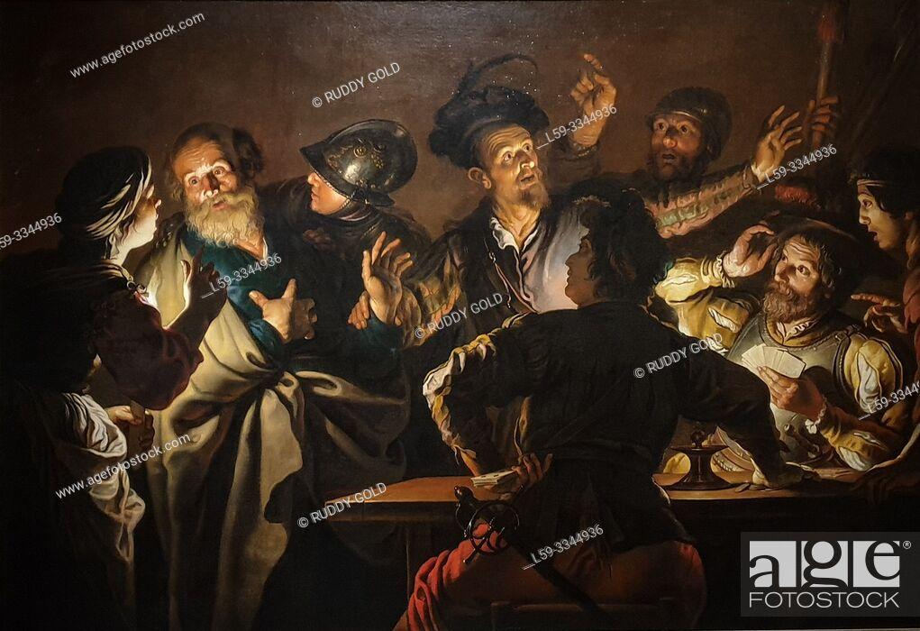 Stock Photo: 'The Denial of Saint Peter', 1620/25, Gerard Seghers (1591-1651).