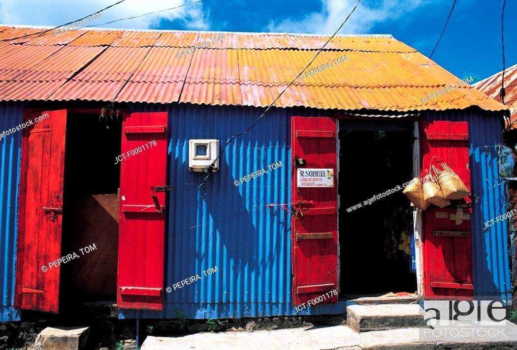 Stock Photo: Mauritius, Rodrigues, shop.