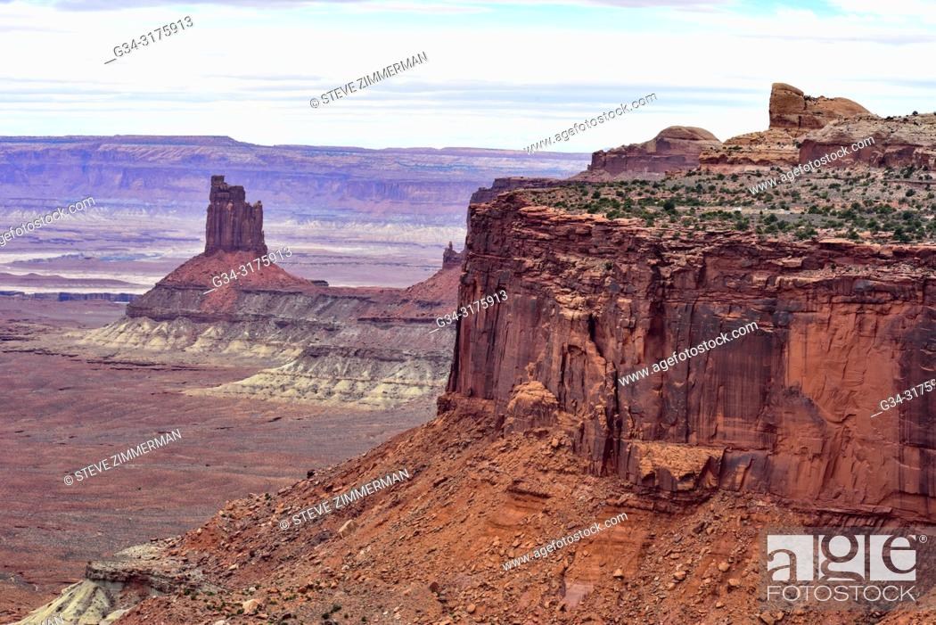 Stock Photo: Distant Formation. Canyonlands National Park, Utah, USA.