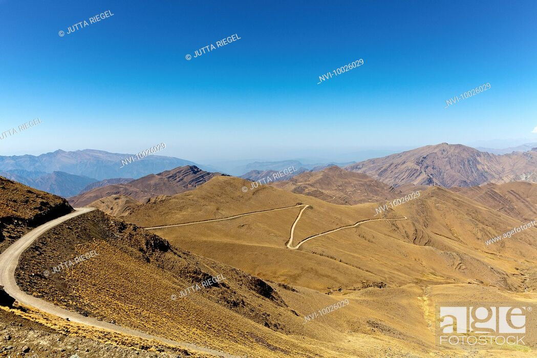 Stock Photo: Landscape of Andes mountains, Puna desert, Jujuy Province, Argentina, South America.