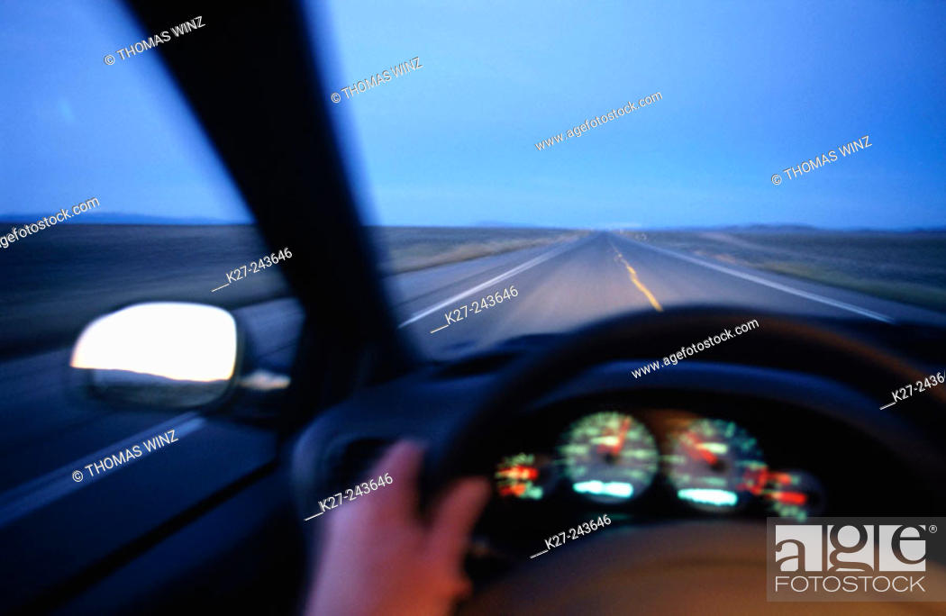 Stock Photo: Drivers point of view.