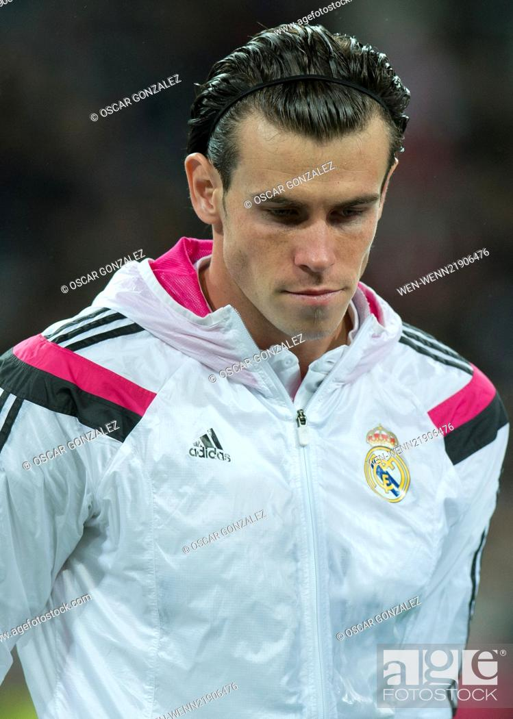 Stock Photo: La Liga match between Real Madrid and Rayo Vallecano at the Santiago Bernabeu stadium Featuring: Gareth Bale Where: Madrid.