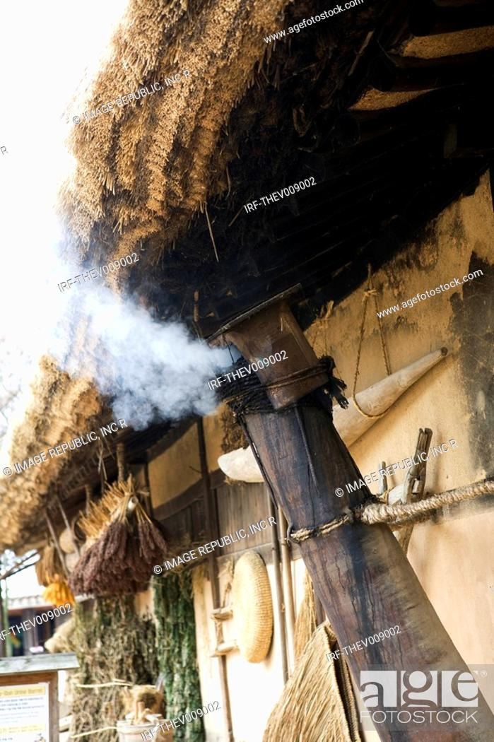 Stock Photo: Korean traditional architecture, chimney.