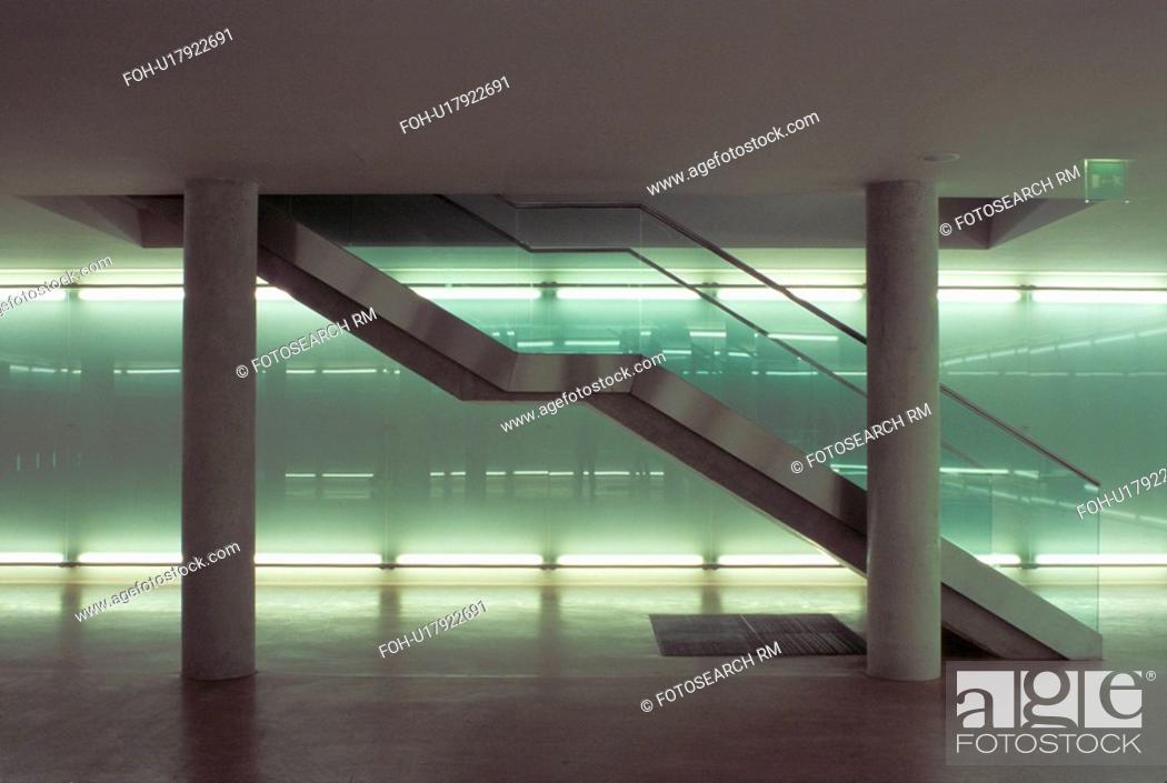 Stock Photo: stairs green light wien vienna austria kuenste.