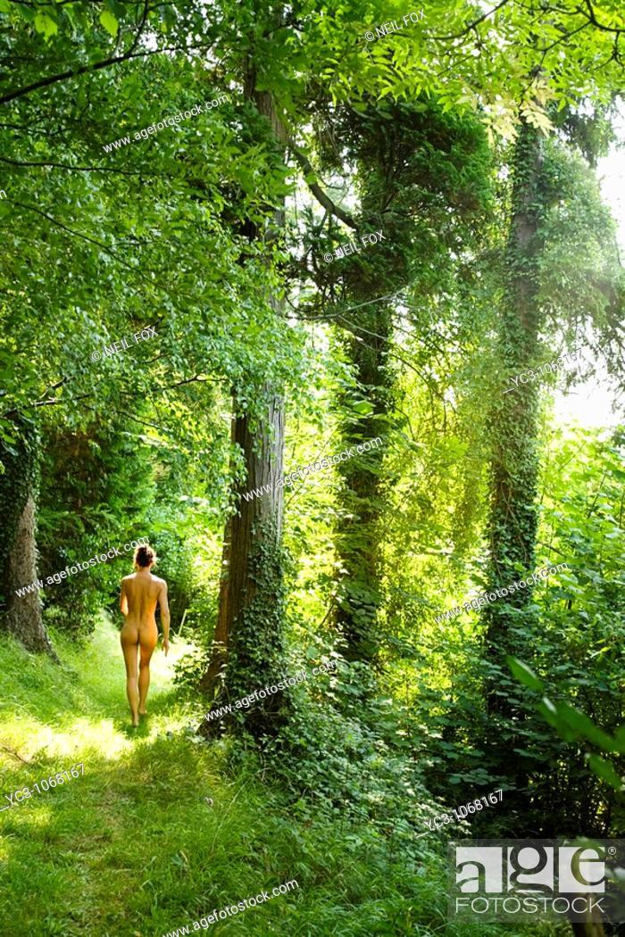 Stock Photo: Naked walk.