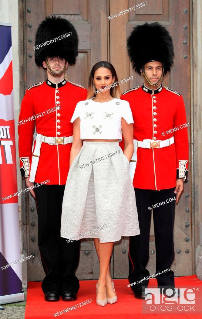 Stock Photo: Britain's Got Talent Press Launch at St Luke's Church, Old Street, London Featuring: Alesha Dixon Where: London, United Kingdom When: 09 Apr 2014 Credit: WENN.
