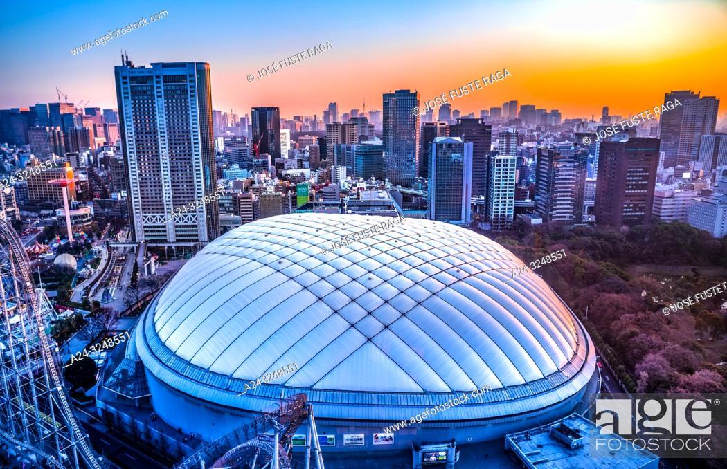 Photo de stock: Japan, Tokyo City, Bunkyo Ward, Tokyo Dome Bldg.