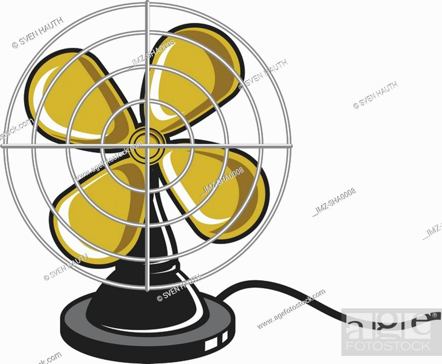 Stock Photo: An illustration of an electric fan.