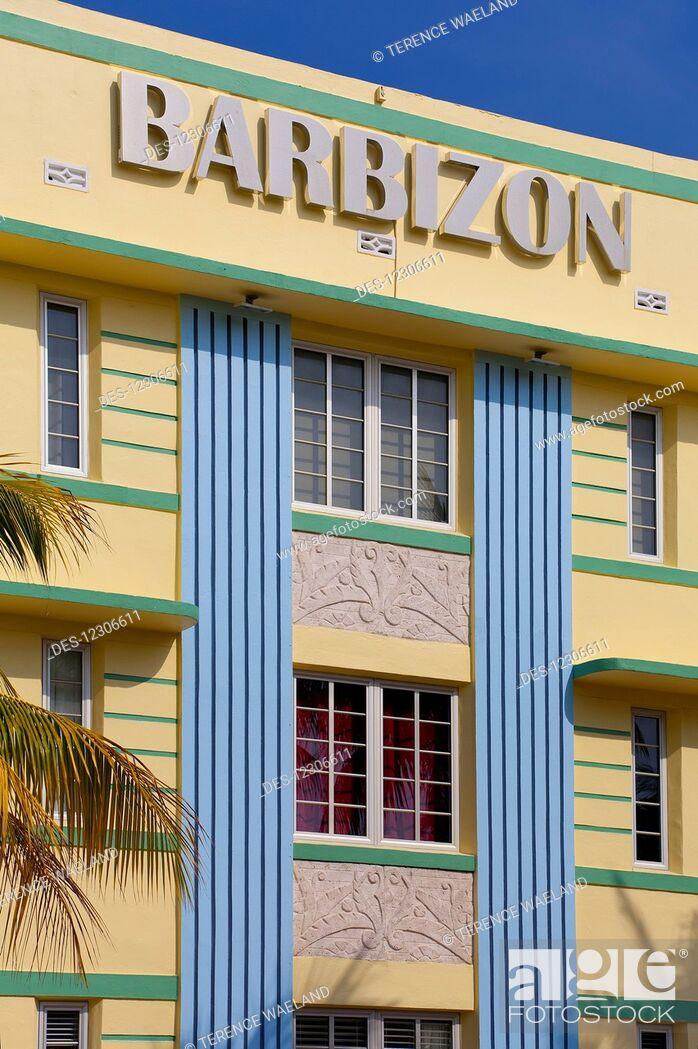Stock Photo Hotel Barbizon South Beach Florida United States Of America
