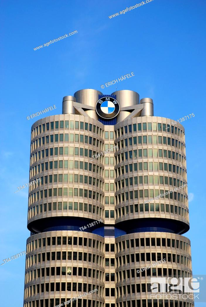 Stock Photo: BMW Tower in Munich.