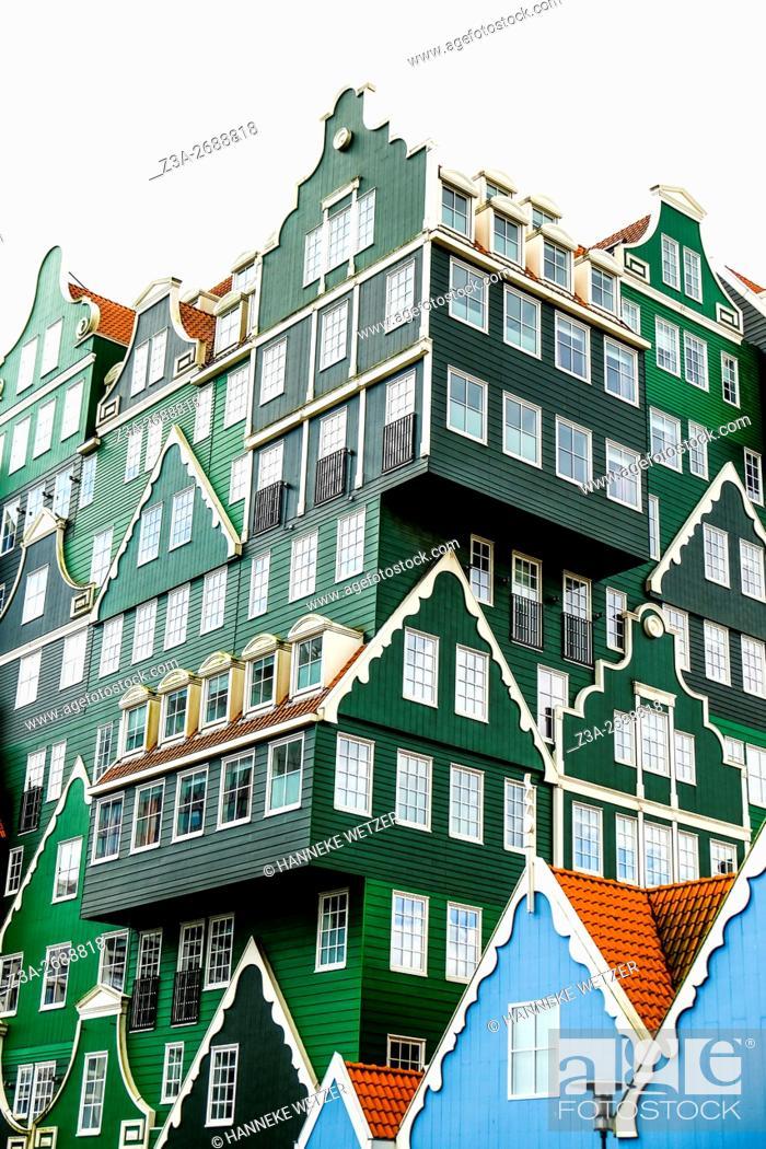 "Stock Photo: Inntel Hotel Amsterdam Zaandam â. "" A Real Life Gingerbread House, the Netherlands."
