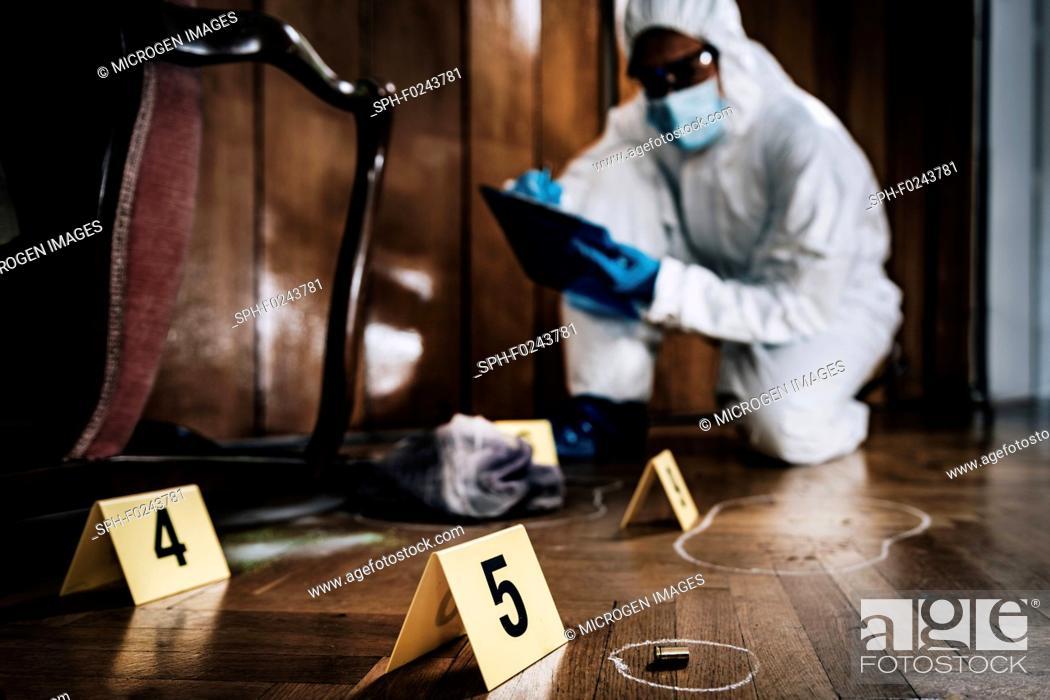 Stock Photo: Crime scene investigation.