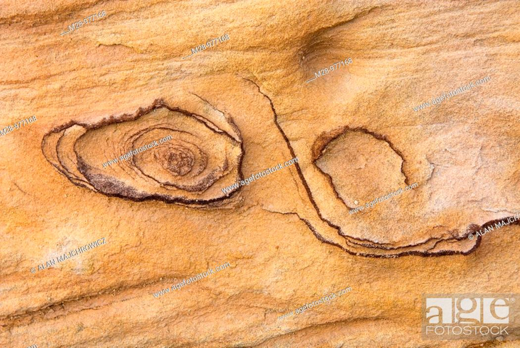 Stock Photo: Abstract patterns in Kayenta Sandstone, Capitol Reef National Park Utah.