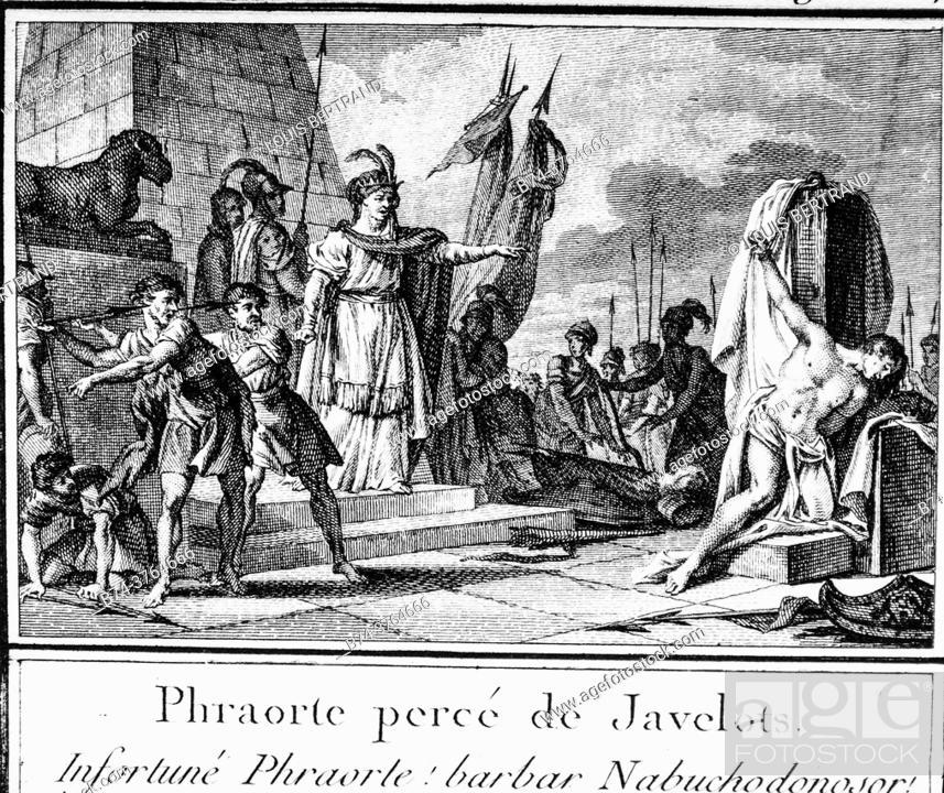 Stock Photo: Lydian mythology, abbreviated editor of universal history 1850.