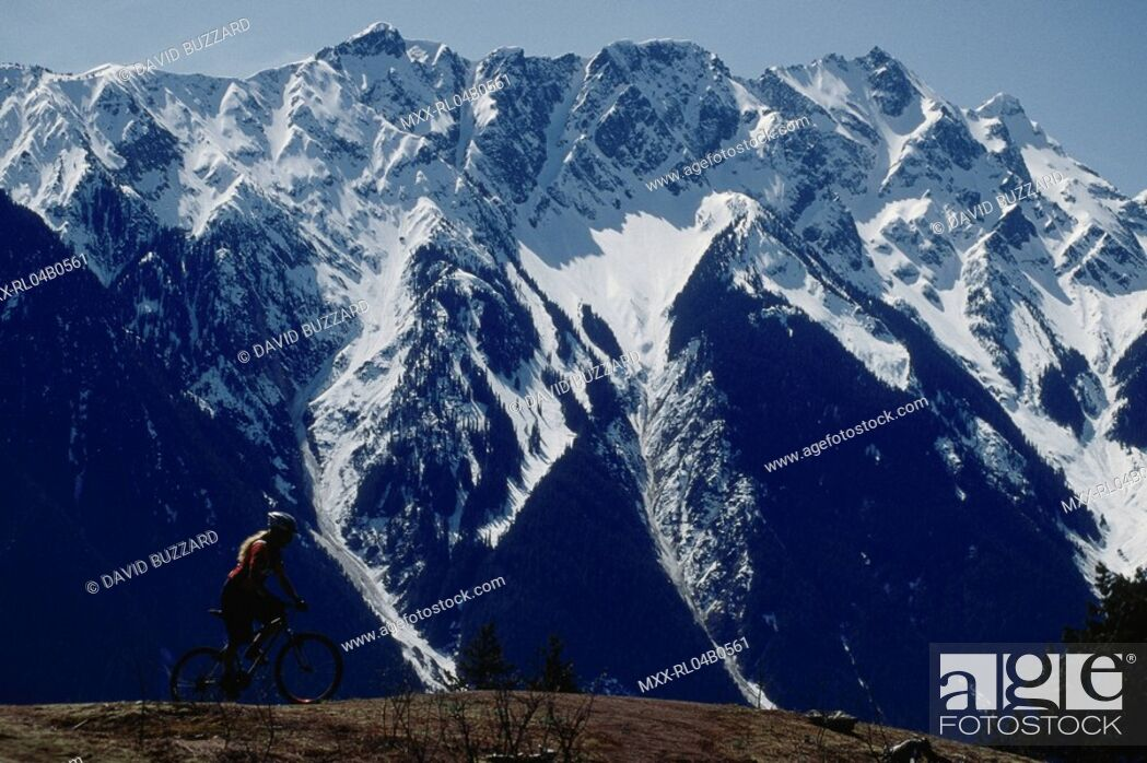 Stock Photo: Mountain Biker, Pemberton, BC, Canada.