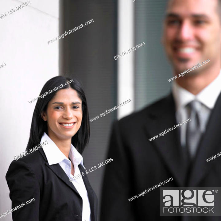 Stock Photo: Businesspeople smiling for the camera.