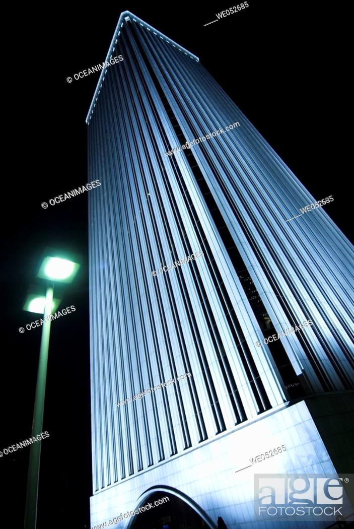 Stock Photo: Torre Picasso, Azca district, Madrid. Spain.