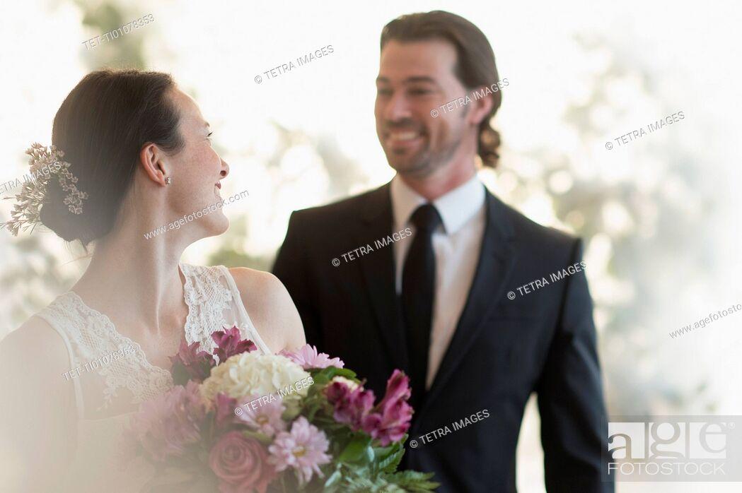 Stock Photo: Portrait of bride and groom.