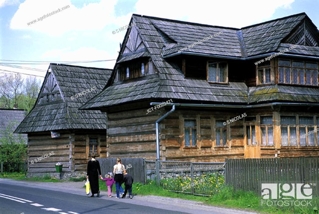 Stock Photo: Poland, near Zakopane, Chocholow.