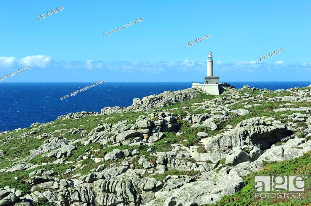 Stock Photo: The lighthouse of Punta Nariga. Malpica de Bergantiños, La Coruña, Spain.