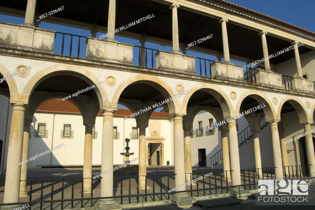 Stock Photo: COIMBRA, PORTUGAL - August 13, 2016: The Machado da Castro National Museum in the ancient university city of Coimbra, Portugal.