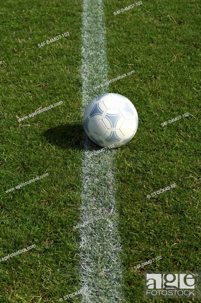 Stock Photo: Ball lying on line.