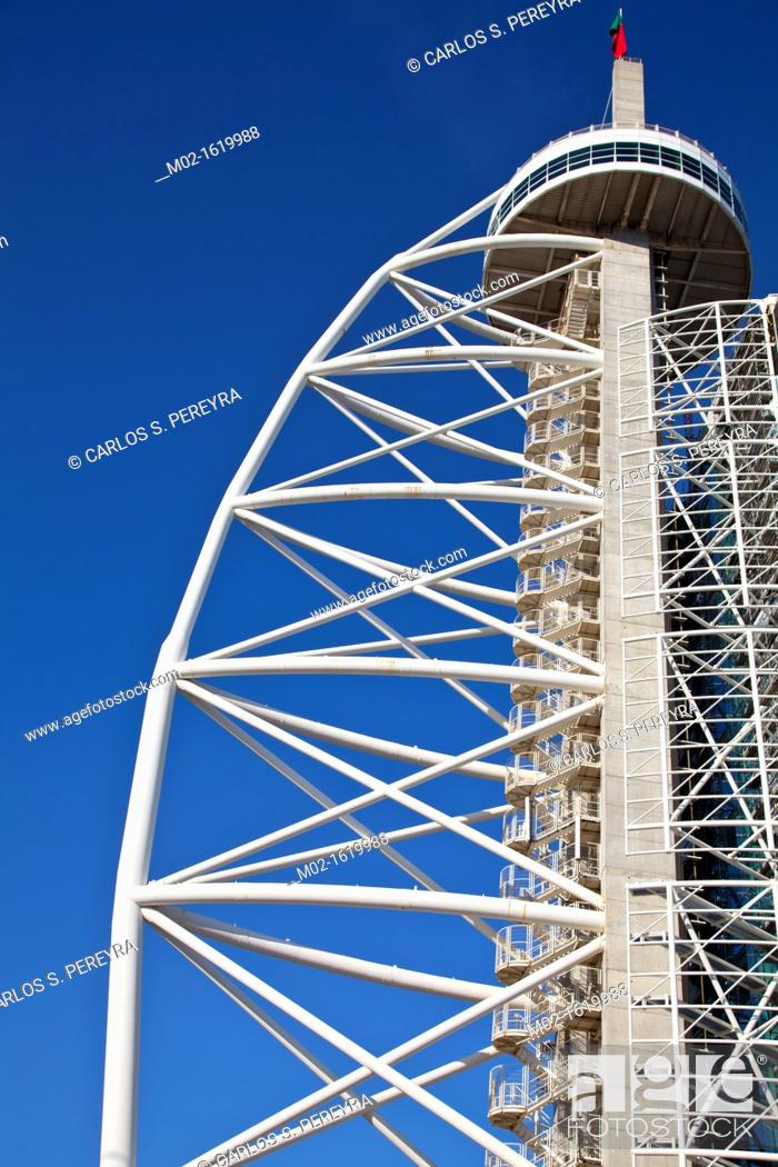 Stock Photo: Vasco de Gama Tower, parque das Nações, Park of Nations, Lisbon Expo 98 Portugal.