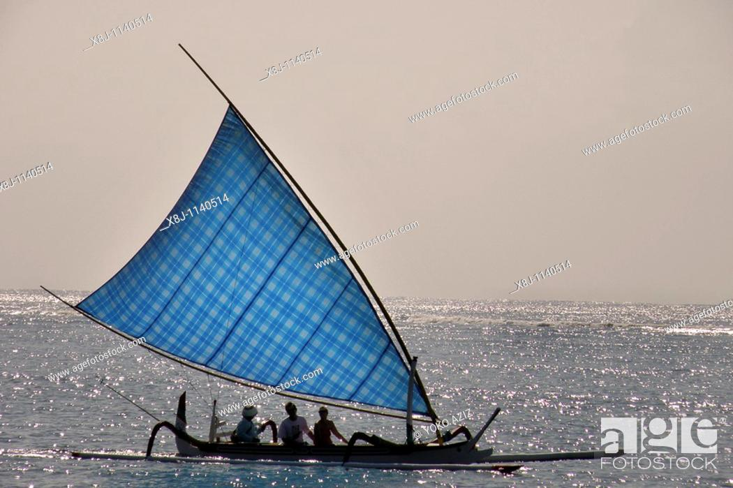 Stock Photo: traditional boat, Bali, Indonesia.
