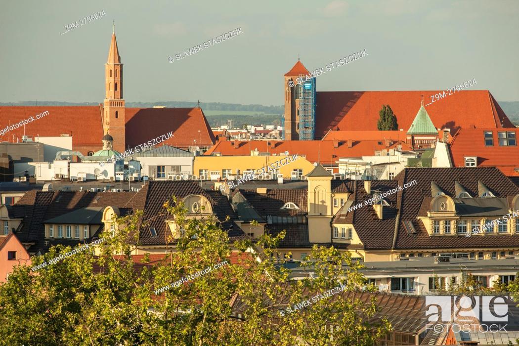 Stock Photo: The skyline of Wroclaw, Poland.
