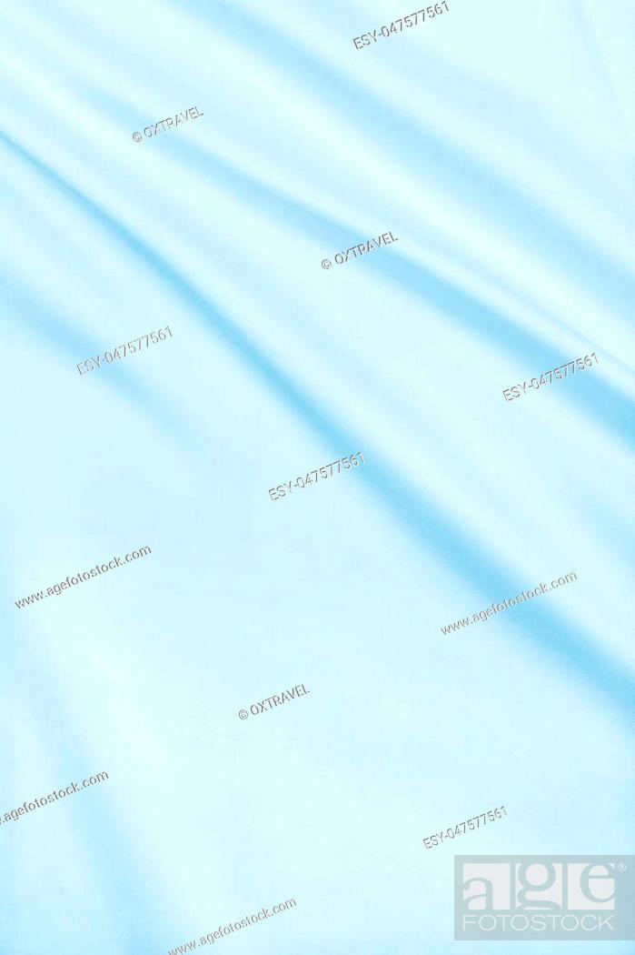 Stock Photo: Smooth elegant blue silk or satin luxury cloth texture can use as abstract background. Luxurious background design.