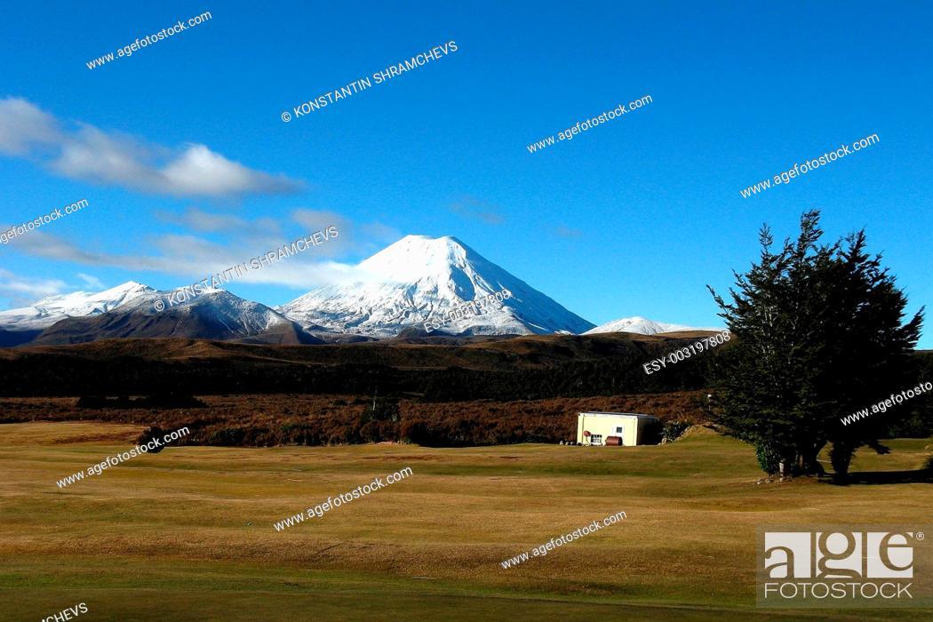 Stock Photo: Mount Ngauruhoe.