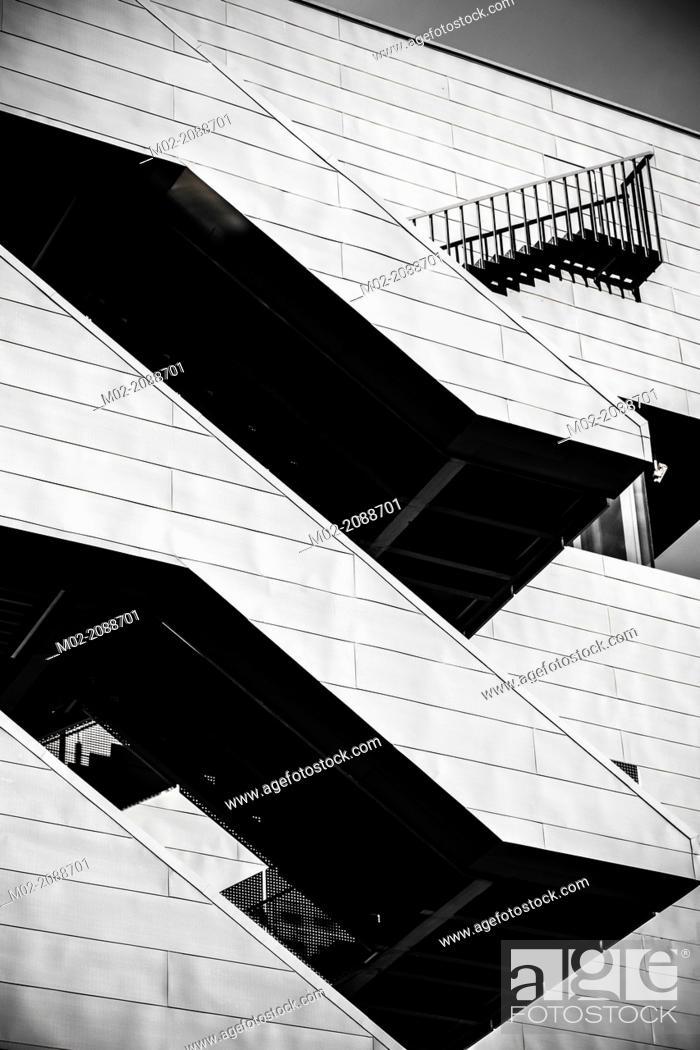 Stock Photo: Disseny Hub Barcelona museum, Barcelona, Catalonia, Spain.