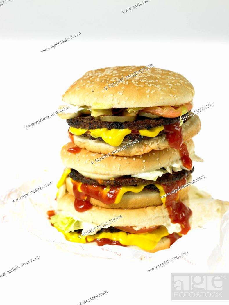 Stock Photo: Food - Beefburger.