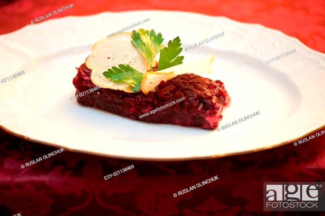 Stock Photo: beet salad.