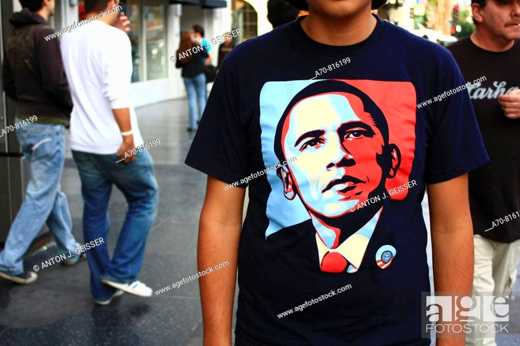 Stock Photo: United States presidential election, 2008. Los Angeles, CA.