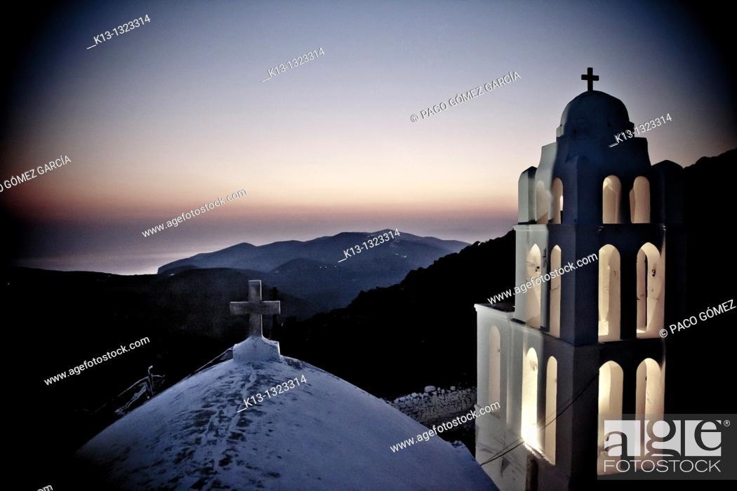 Stock Photo: Church of the Virgin Mary, Folegandros, The Cyclades, Greece.