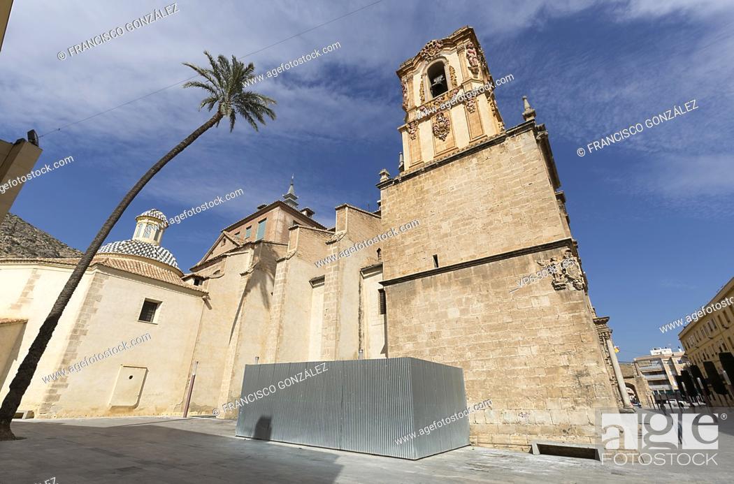 Photo de stock: Exterior facade of the Santo Domingo Convent of Orihuela, also known as the Patriarch Loazes School. Province of Alicante, Spain.